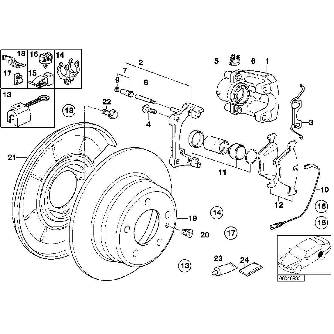 Brake disc, ventilated, left