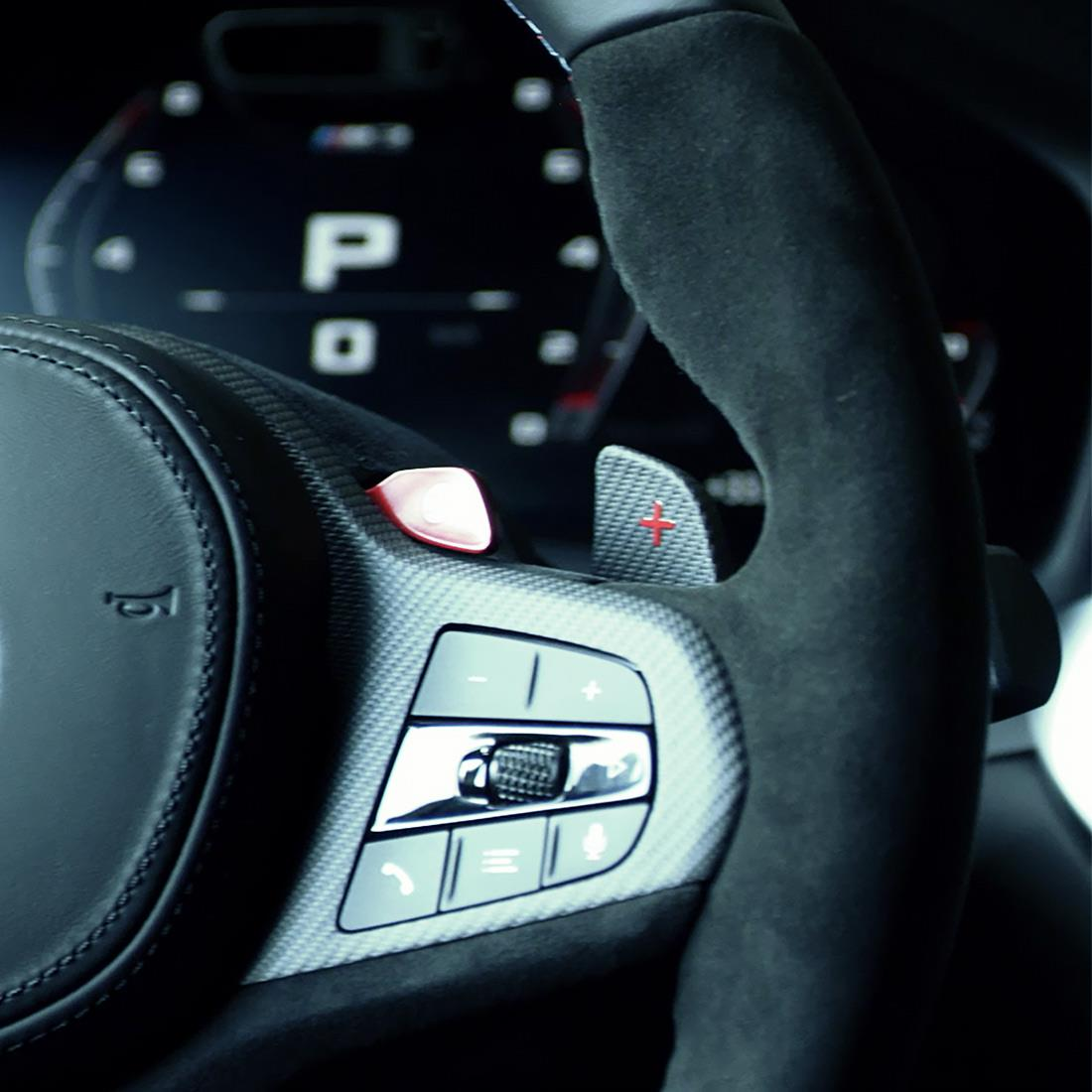 M Performance Shift paddles in carbon fiber