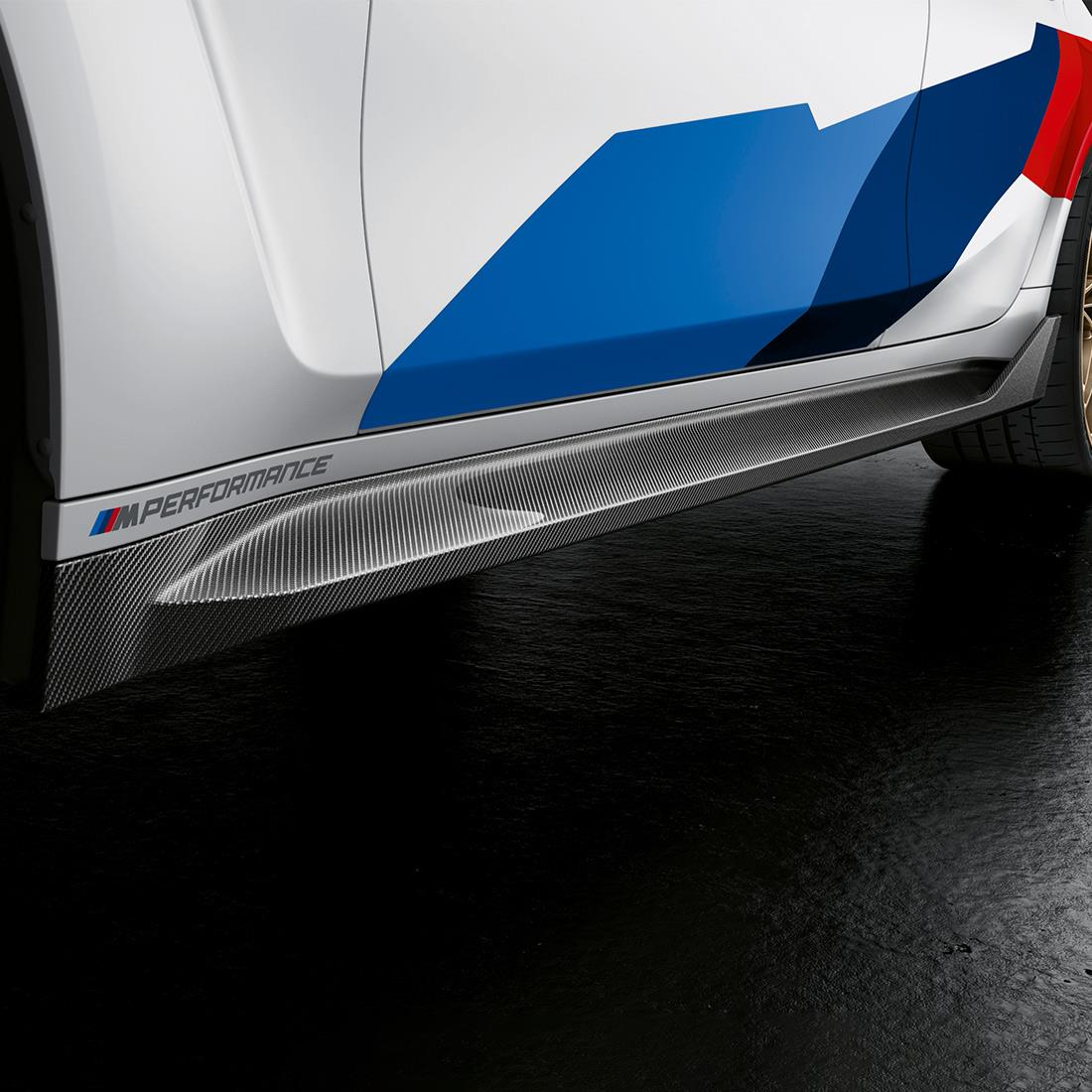 M Performance Side skirt inset in carbon fiber (G80 ONLY)