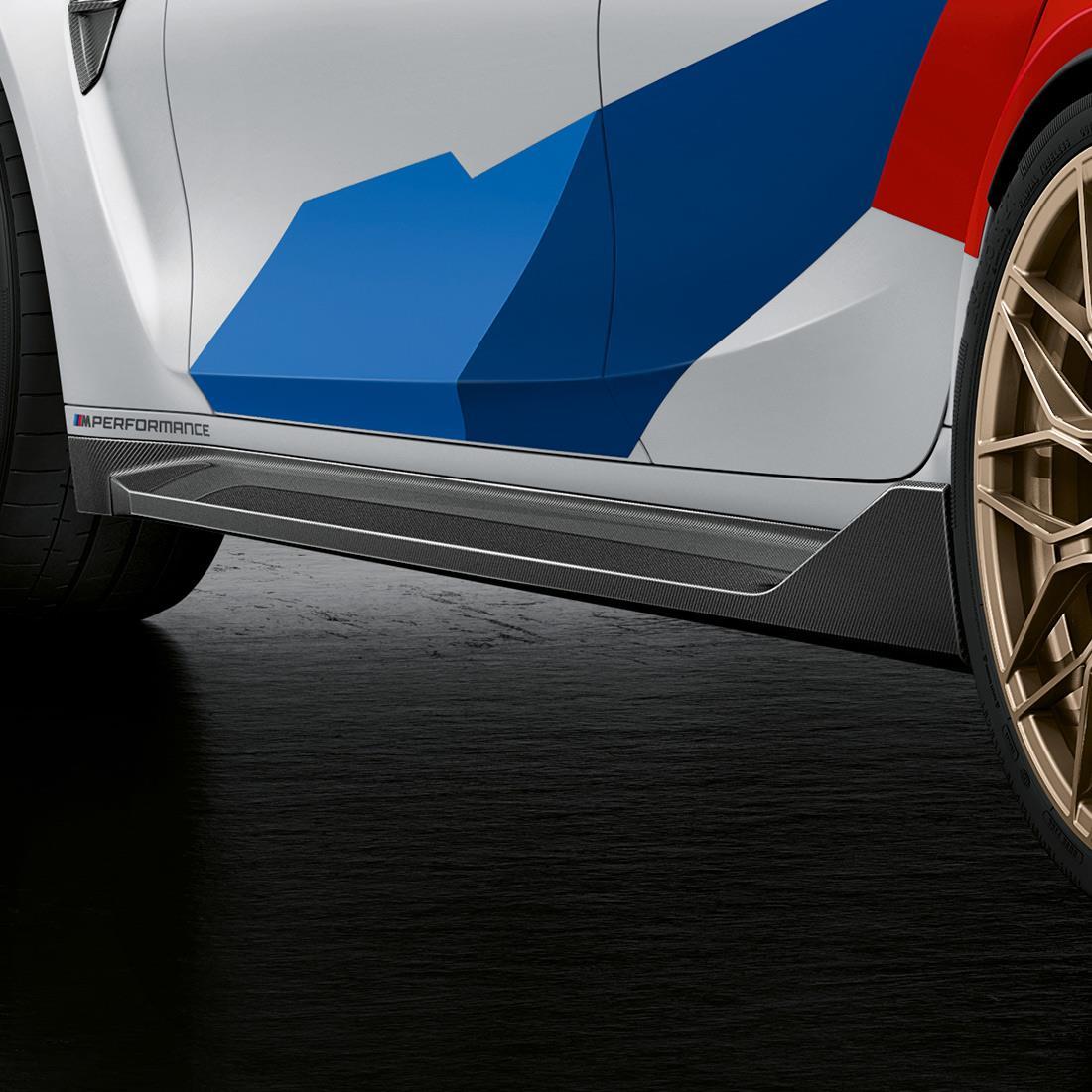 M Performance Side skirt inset in carbon fiber (G80 ONLY)