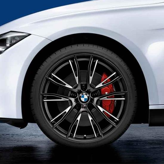 BMW 624M Wheel and Tire Set Black