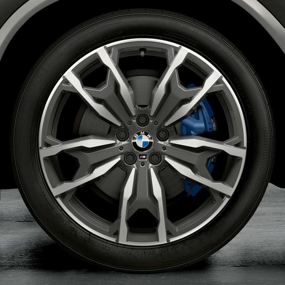"BMW M Performance Style 787M 20"" Complete Wheel & Tire Set in Jet Black Matte"