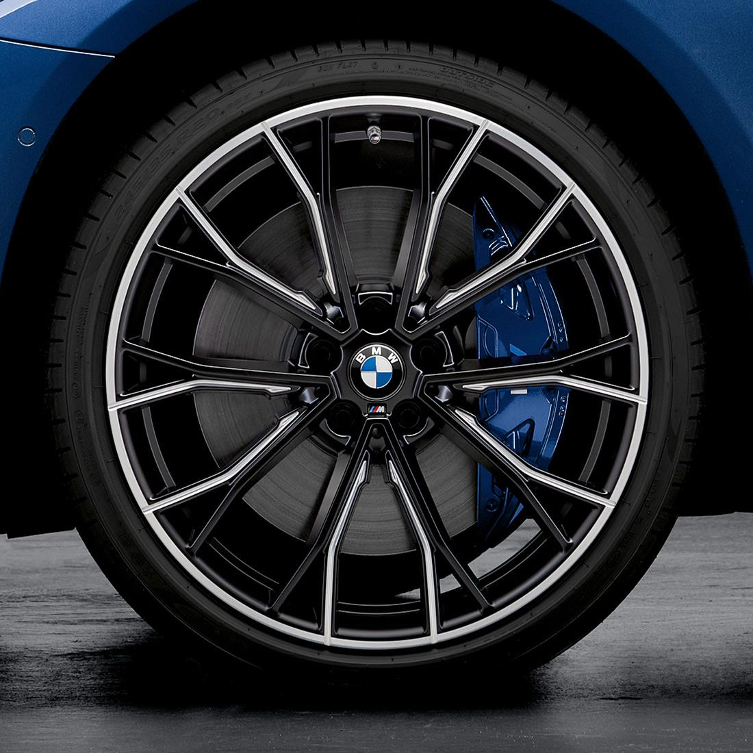 "BMW M Performance Style 669M 20"" Complete Wheel & Tire Set in Jet Black Matte"