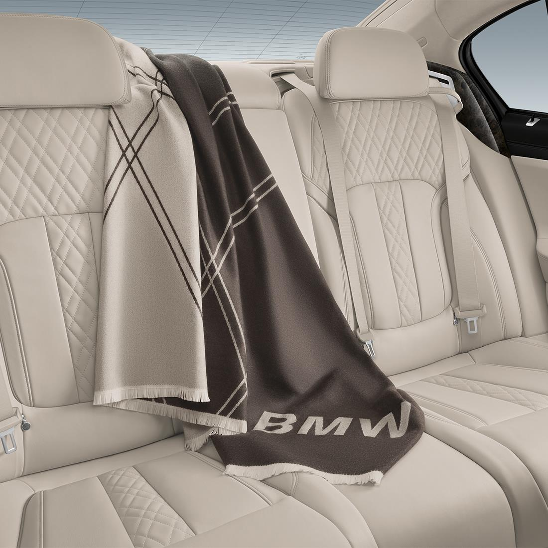 BMW Fine Merino Wool Travel Plaid Blanket