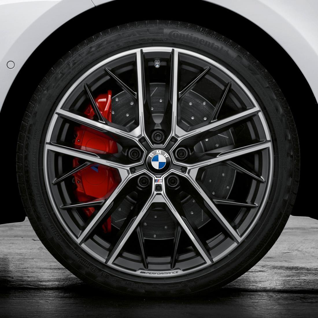 BMW 19 Inch Style 555M Jet Black Matte Wheel and Tire Set