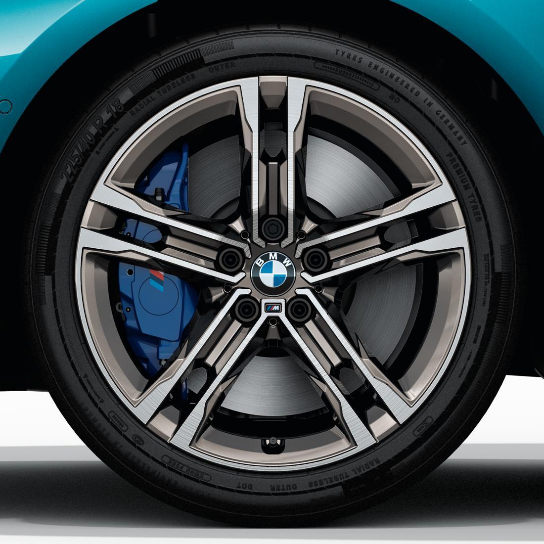 BMW 18  Inch M Performance Double-Spoke Style 556M Cerium Grey Complete Wheel Set