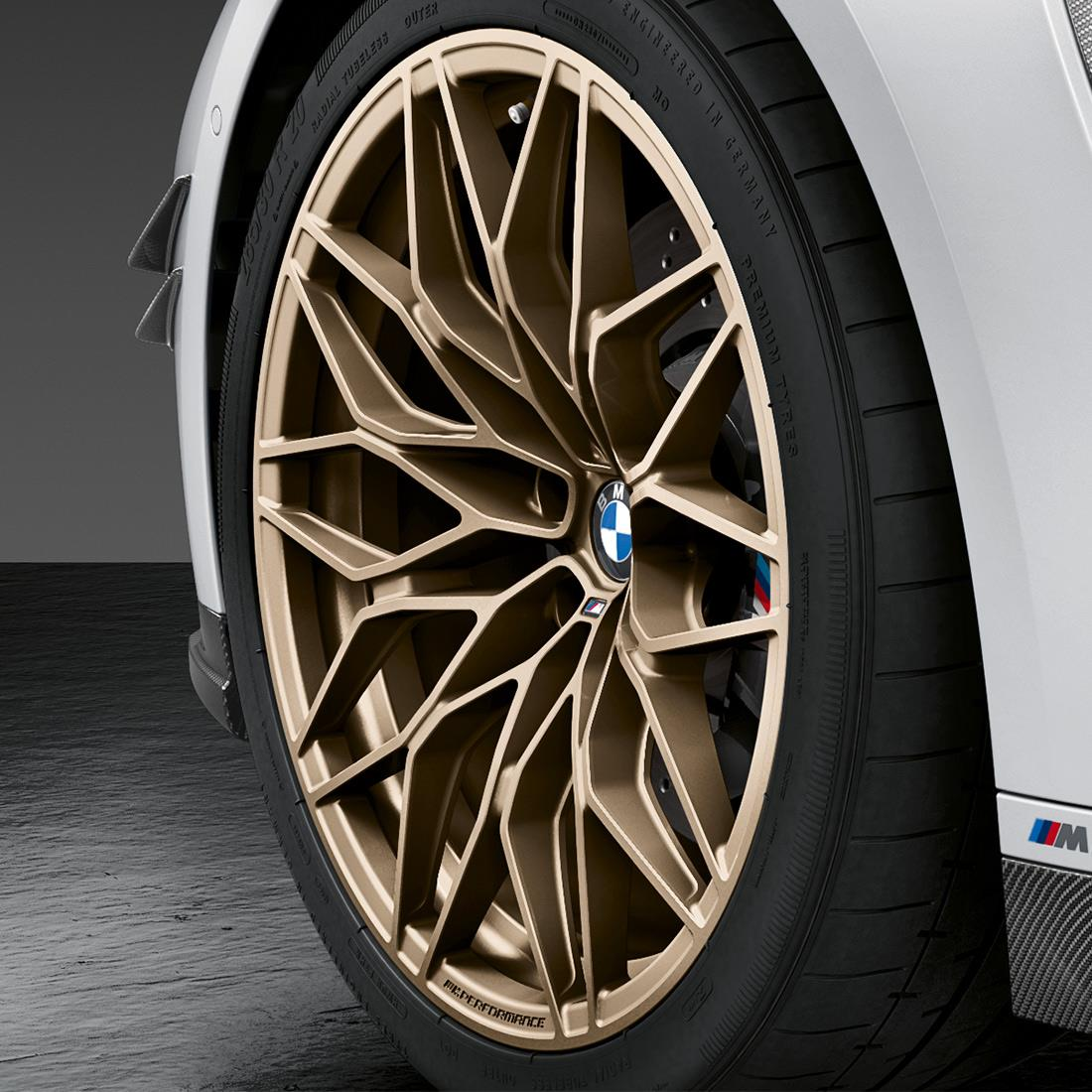 20/21-inch M Performance forged wheel Cross-spoke 1000 M Frozen Goldbronze, summer complete wheel set