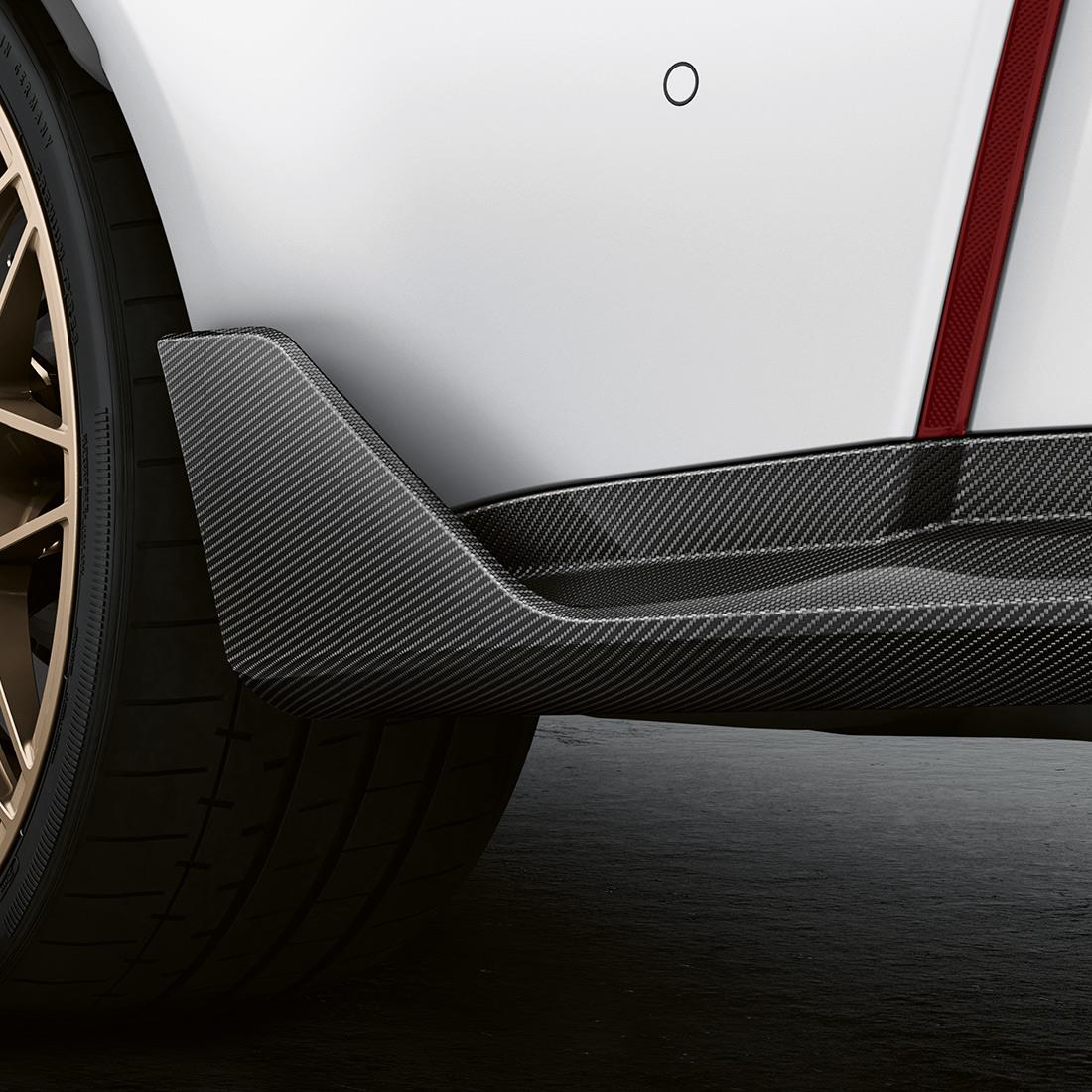 M Performance Rear winglet in carbon fiber