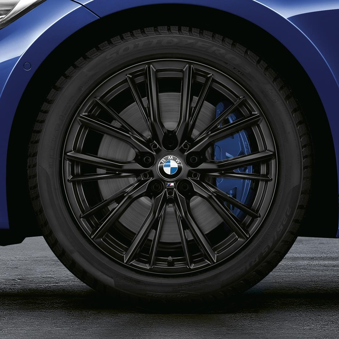 BMW M Performance 18 inch Style 796M Black Complete Winter Wheel and Tire Set