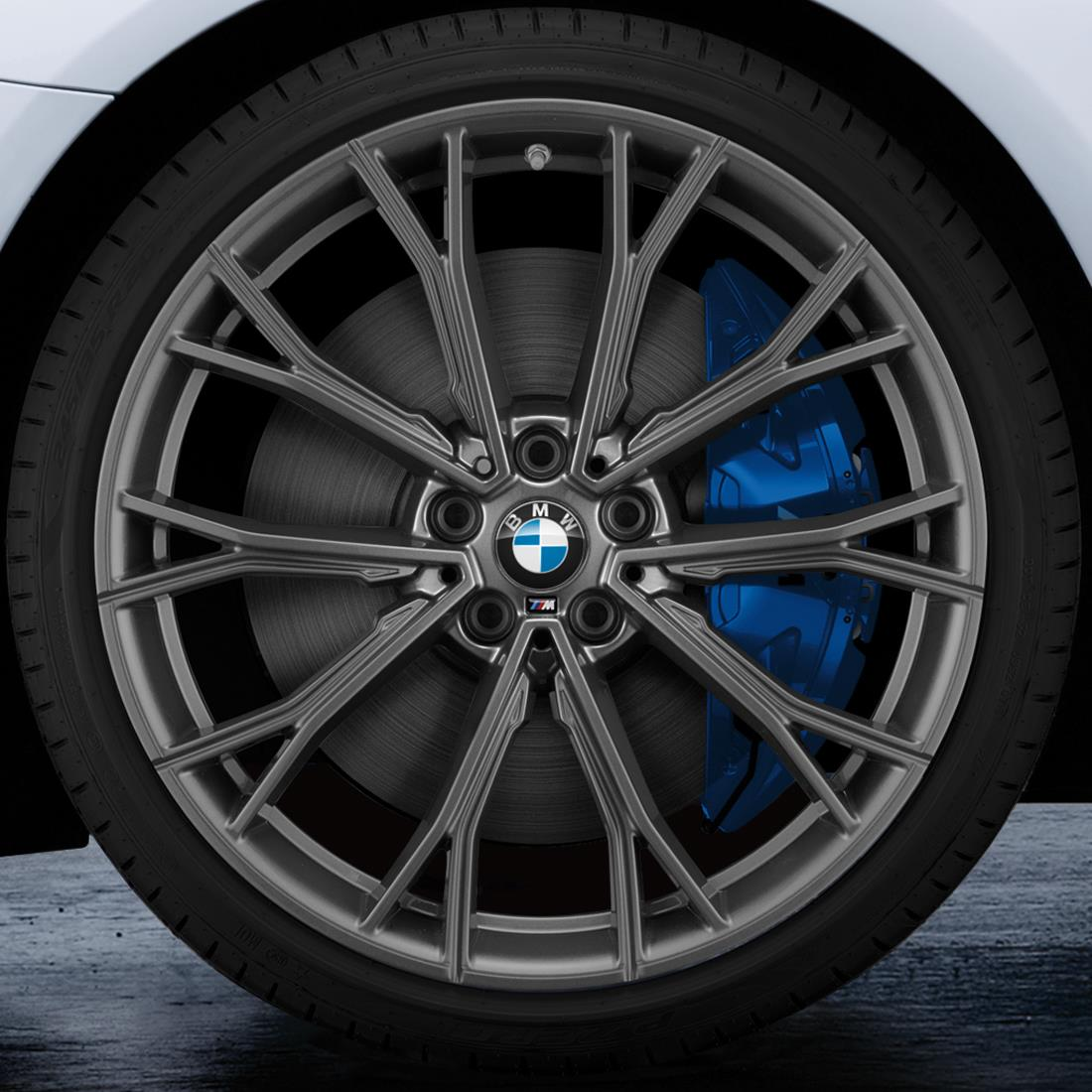 BMW 20-Inch M Performance Double-spoke 669M Complete Performance Wheel and Tire Set - Orbit Grey