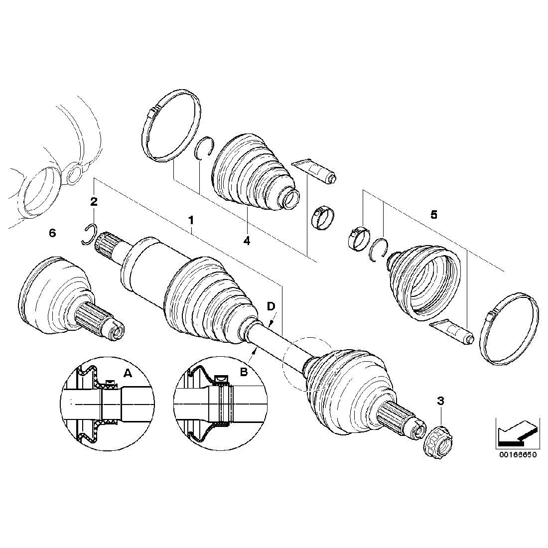 Repair kit bellows, exterior