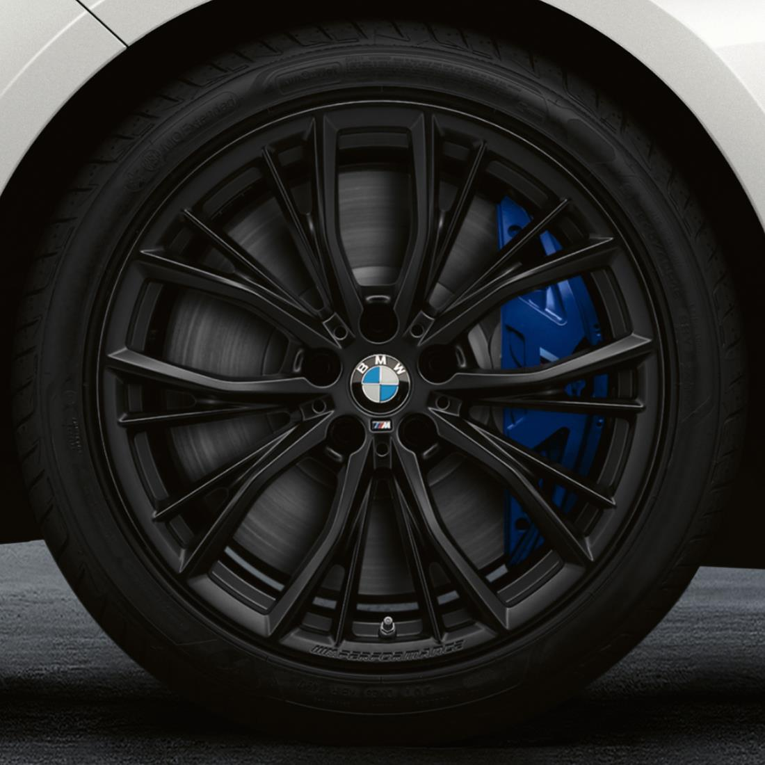 BMW 19-Inch M Performance Double-spoke 786M Complete Performance Wheel and Tire Set - Jet Black Matte