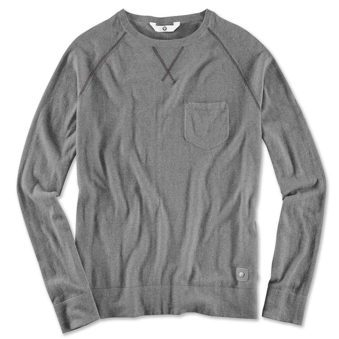BMW Men's Knit Melange Sweater Asphalt Grey