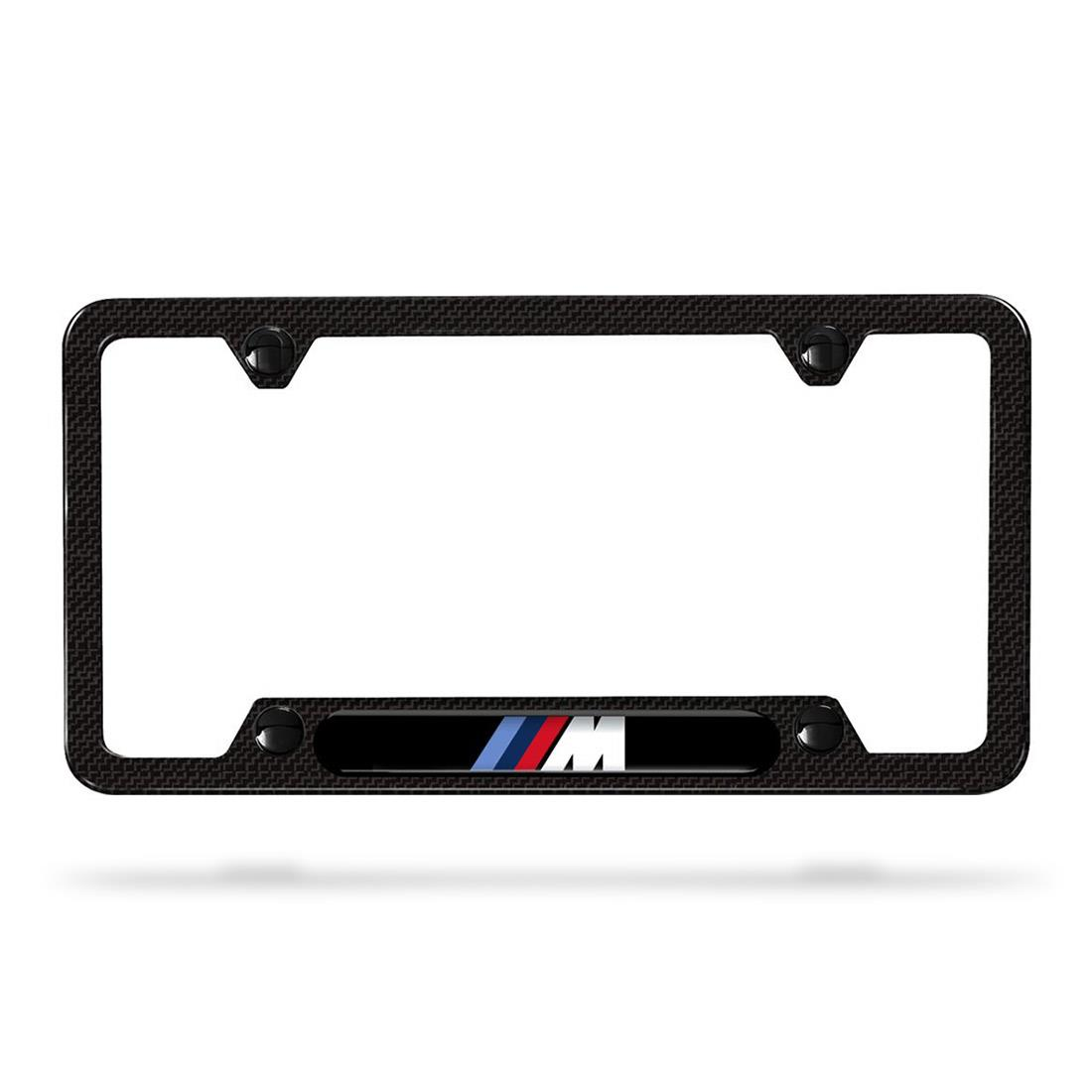 BMW M Carbon Fiber License Plate Frame