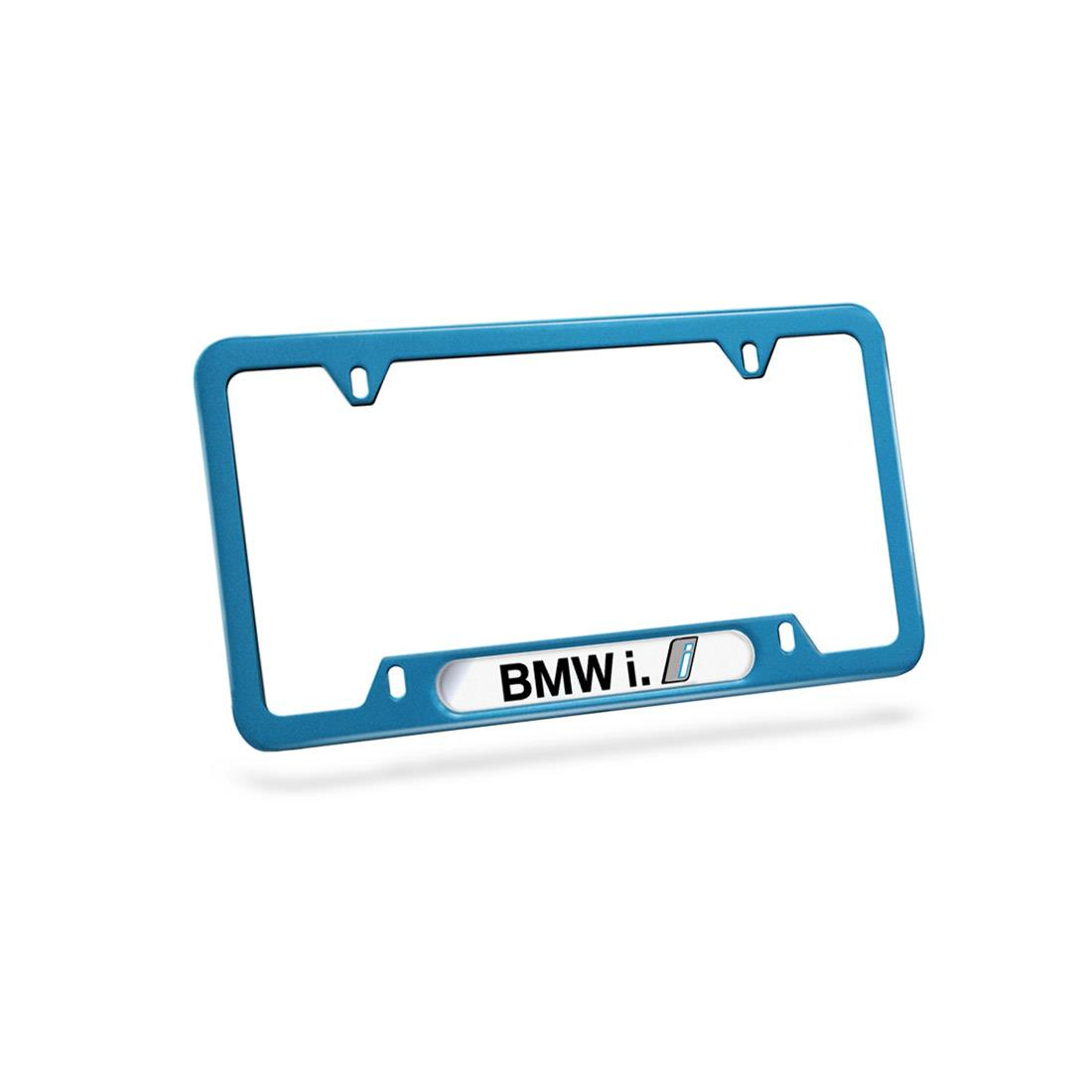 BMW i Blue License Plate Frame