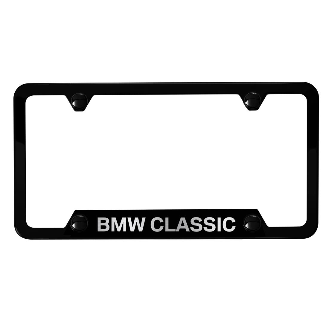 Black BMW Classic license plate frame