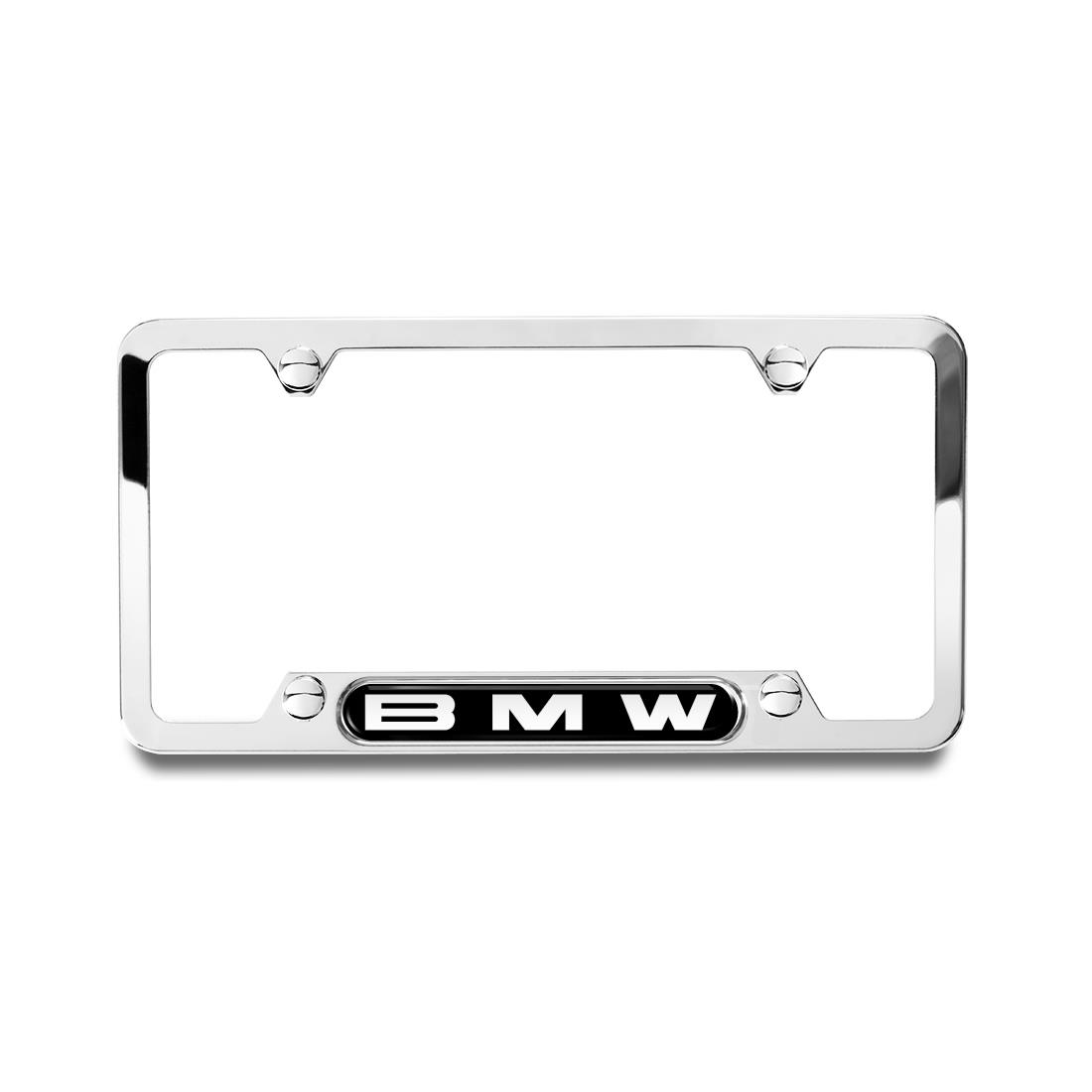 BMW Polished Frame with BMW Logo
