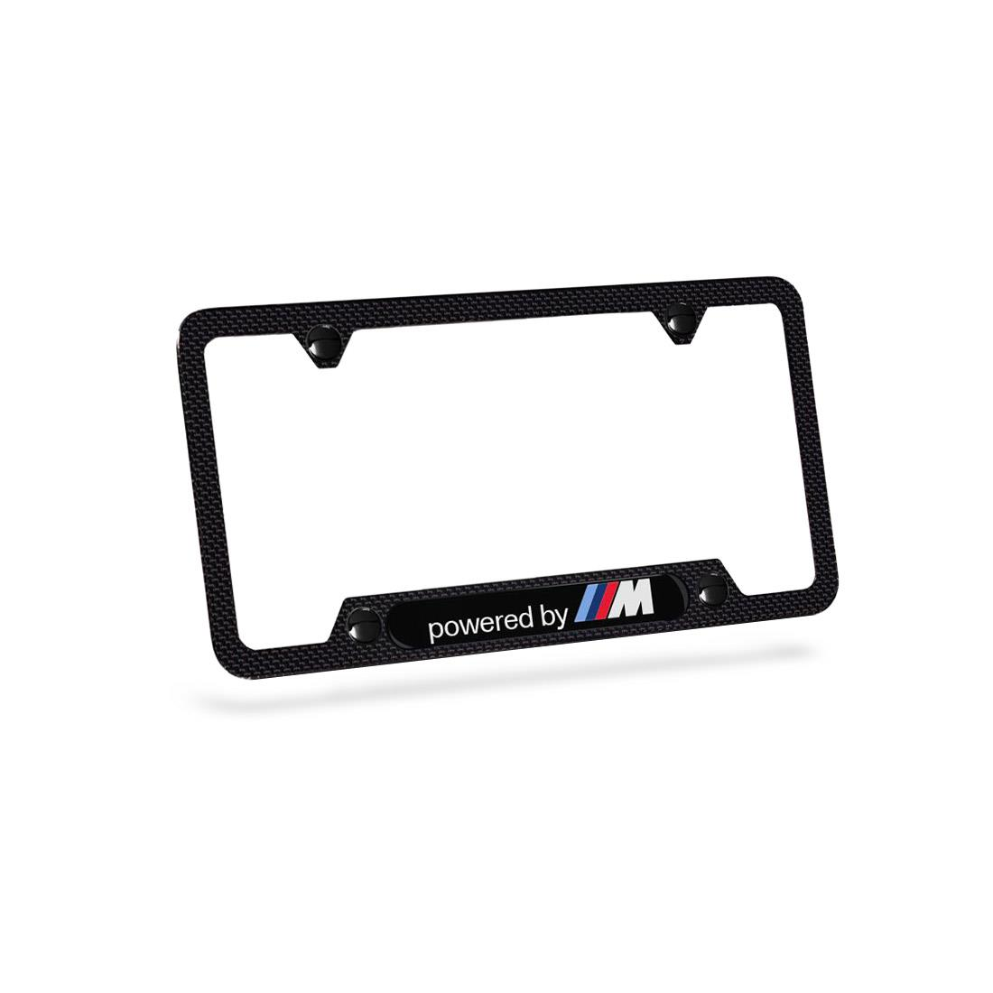 BMW Powered by M Carbon Fiber License Plate Frame