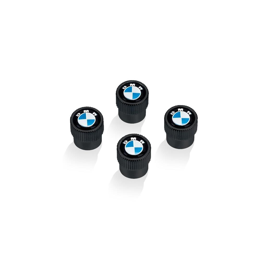 BMW Black Slimline Plate Frame and BMW Logo Black Valve Stem Caps