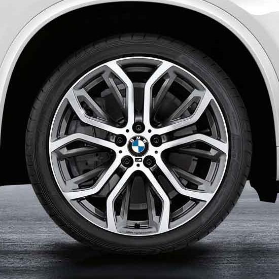 21 Inch BMW Performance Double Spoke 375 - Ferric Grey