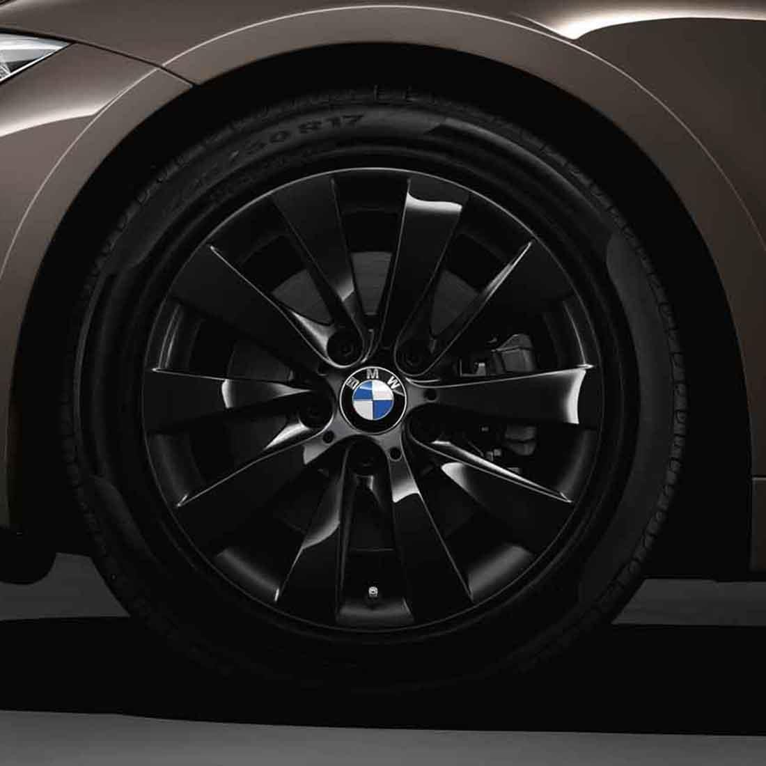 Shopbmwusa Com 17 Inch Style 413 Black Cold Weather Wheel Tire Set