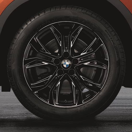 18 Inch Style 566 Black BMW Complete Wheel Set