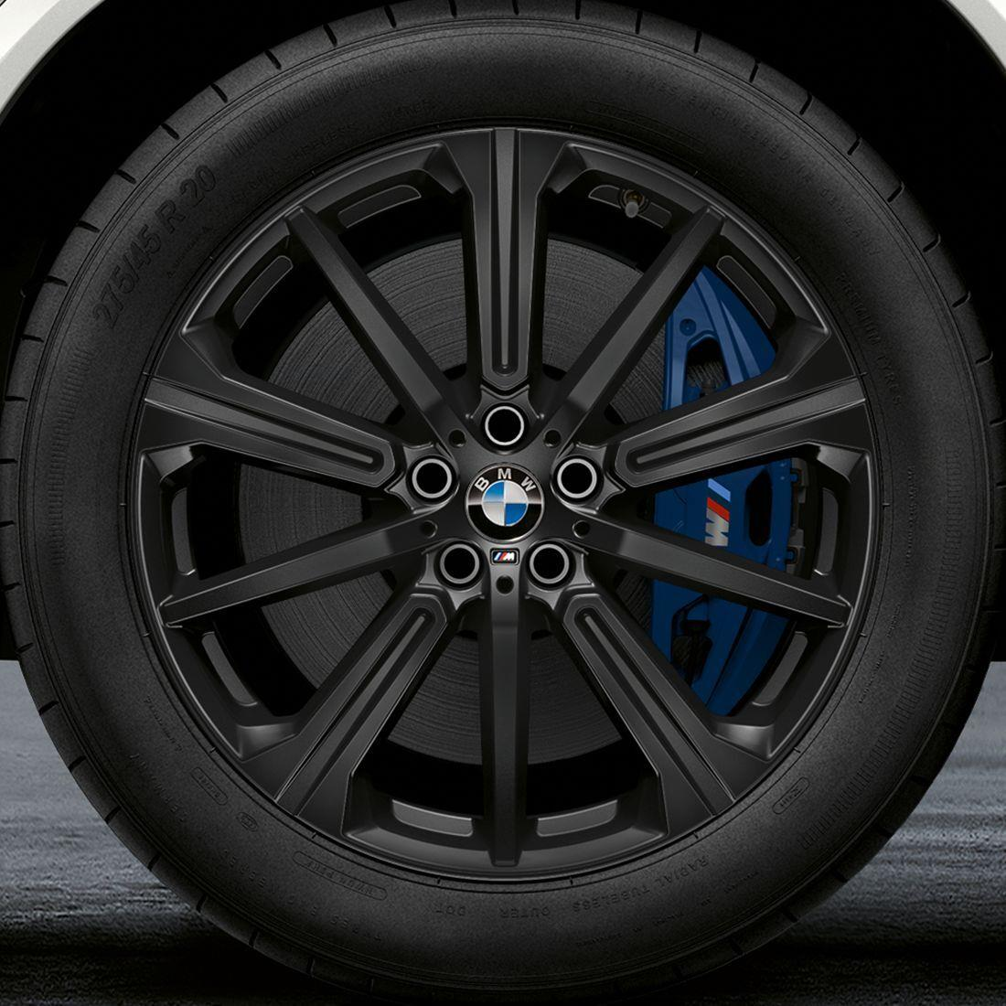 BMW 22 Inch M Performance Star Spoke Style 749M Jett Black Matte Complete Summer Wheel and Tire Set