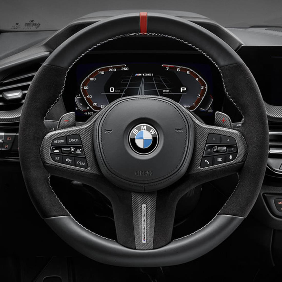 BMW M Performance Steering Wheel Cover - Carbon Fiber / Leather