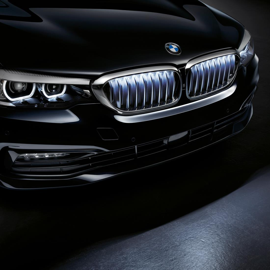 BMW Iconic Glow Kidney Grilles Chrome