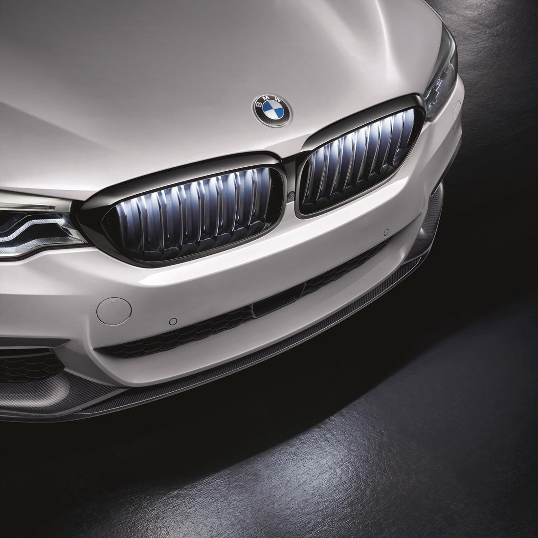 BMW Iconic Glow Kidney Grilles Black High-Gloss