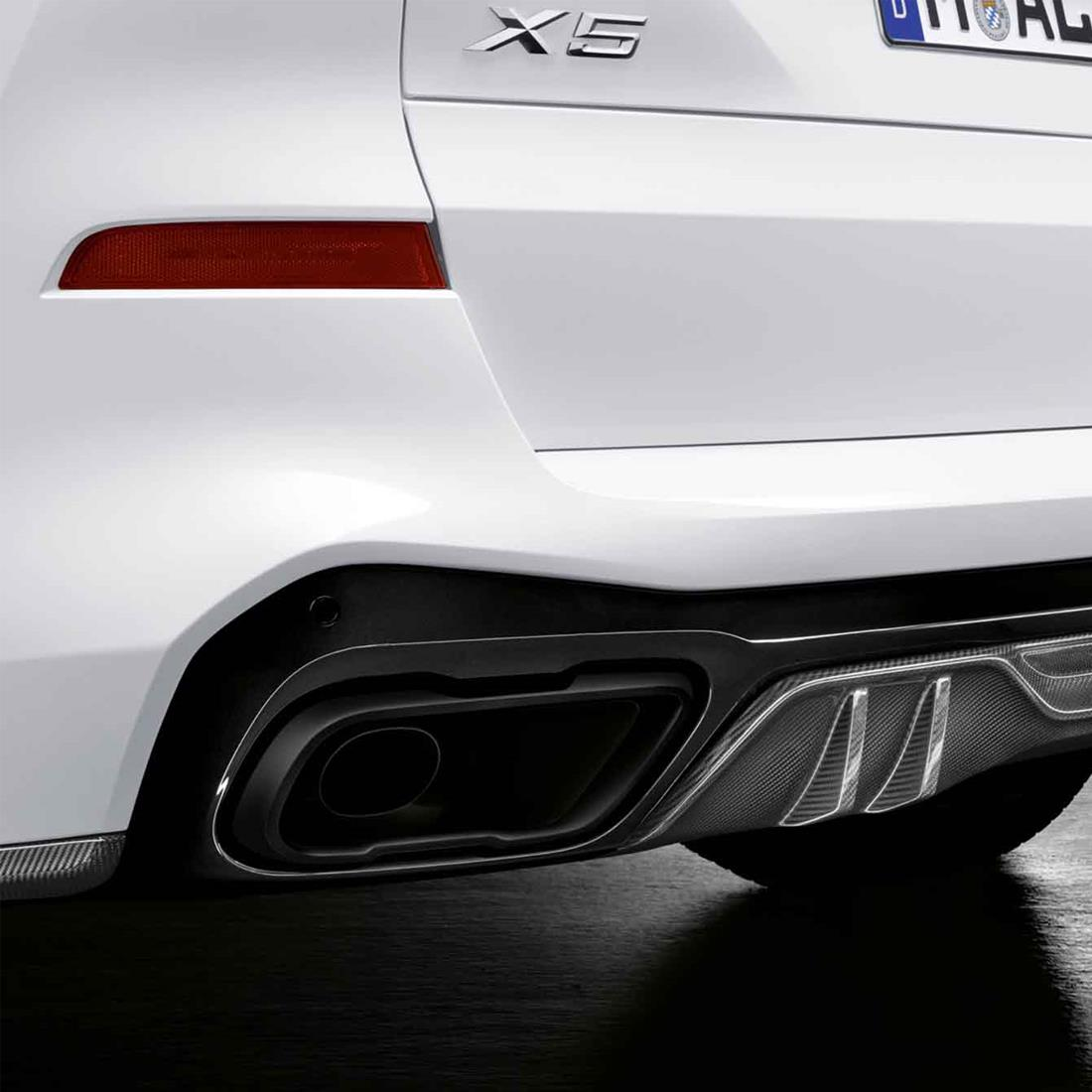 BMW M Performance Black Matte Tailpipe Finishers