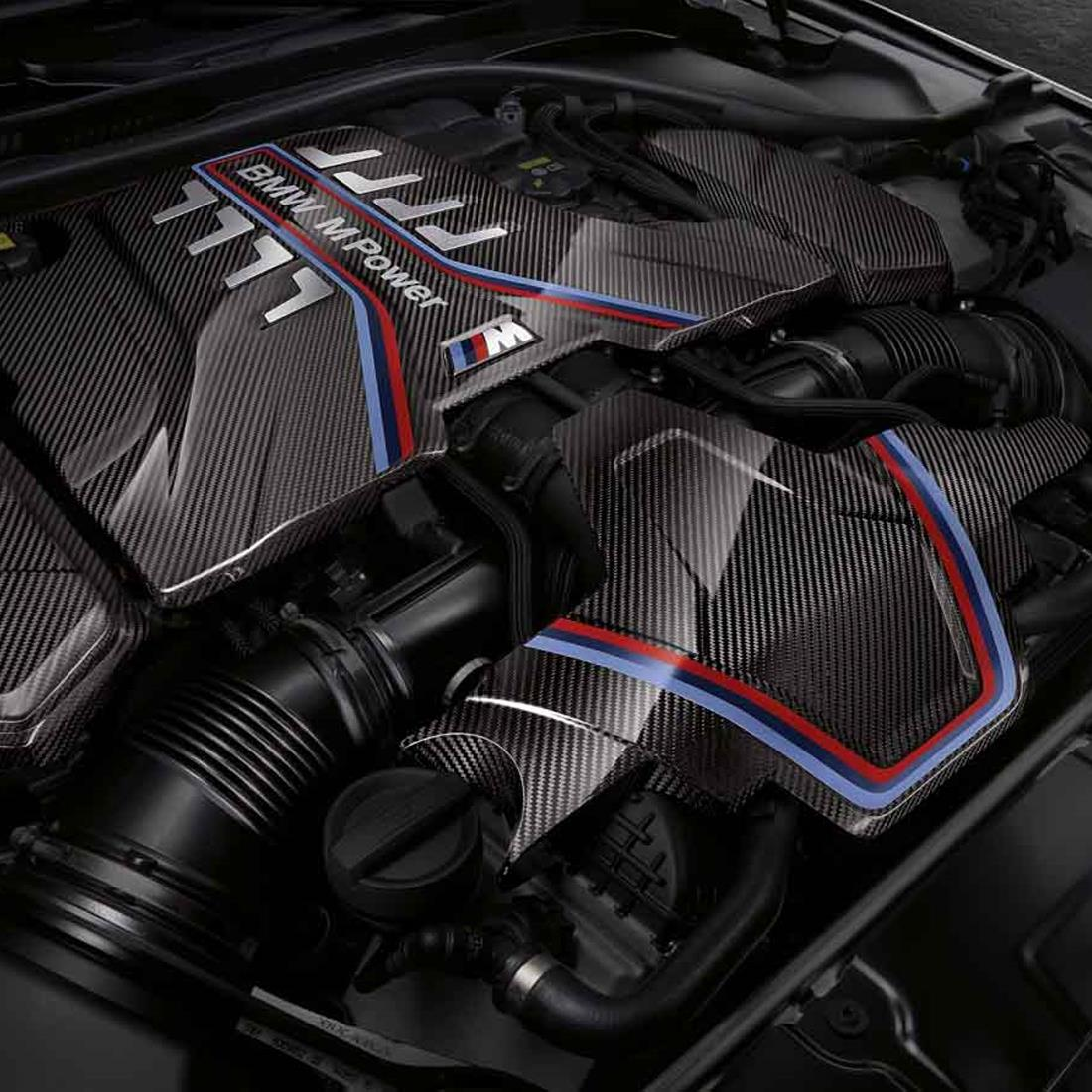 BMW M Performance Engine Cover Expansion Kit - Carbon Fiber