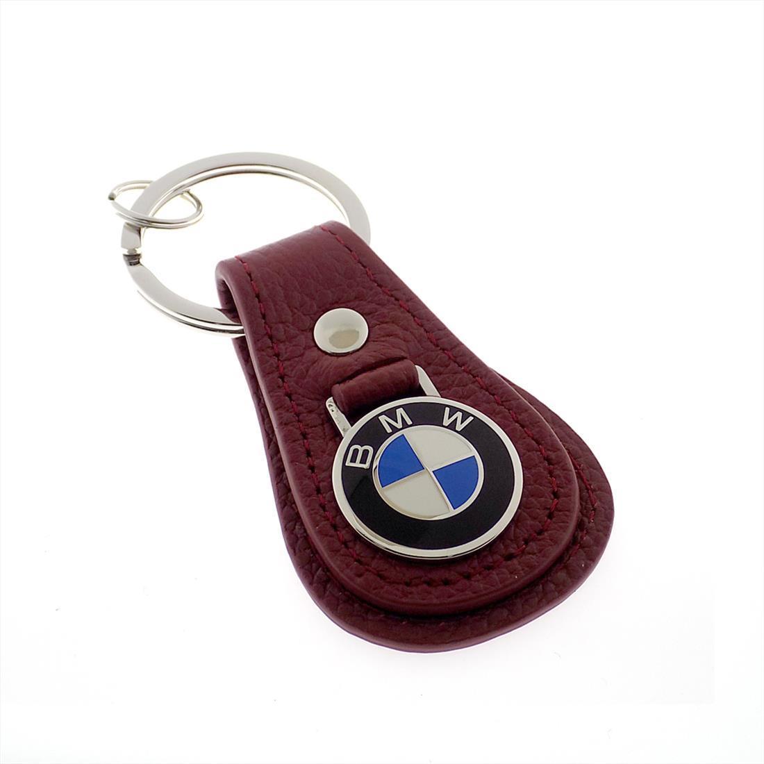 BMW Leather Teardrop Keychain