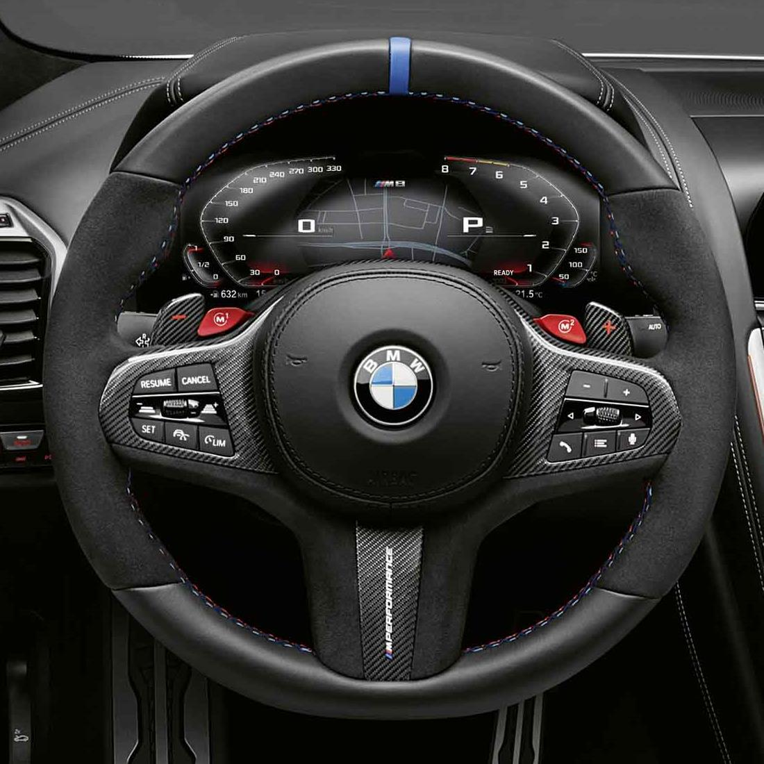 BMW M Performance Steering Wheel Cover - Carbon Fiber / Alcantara