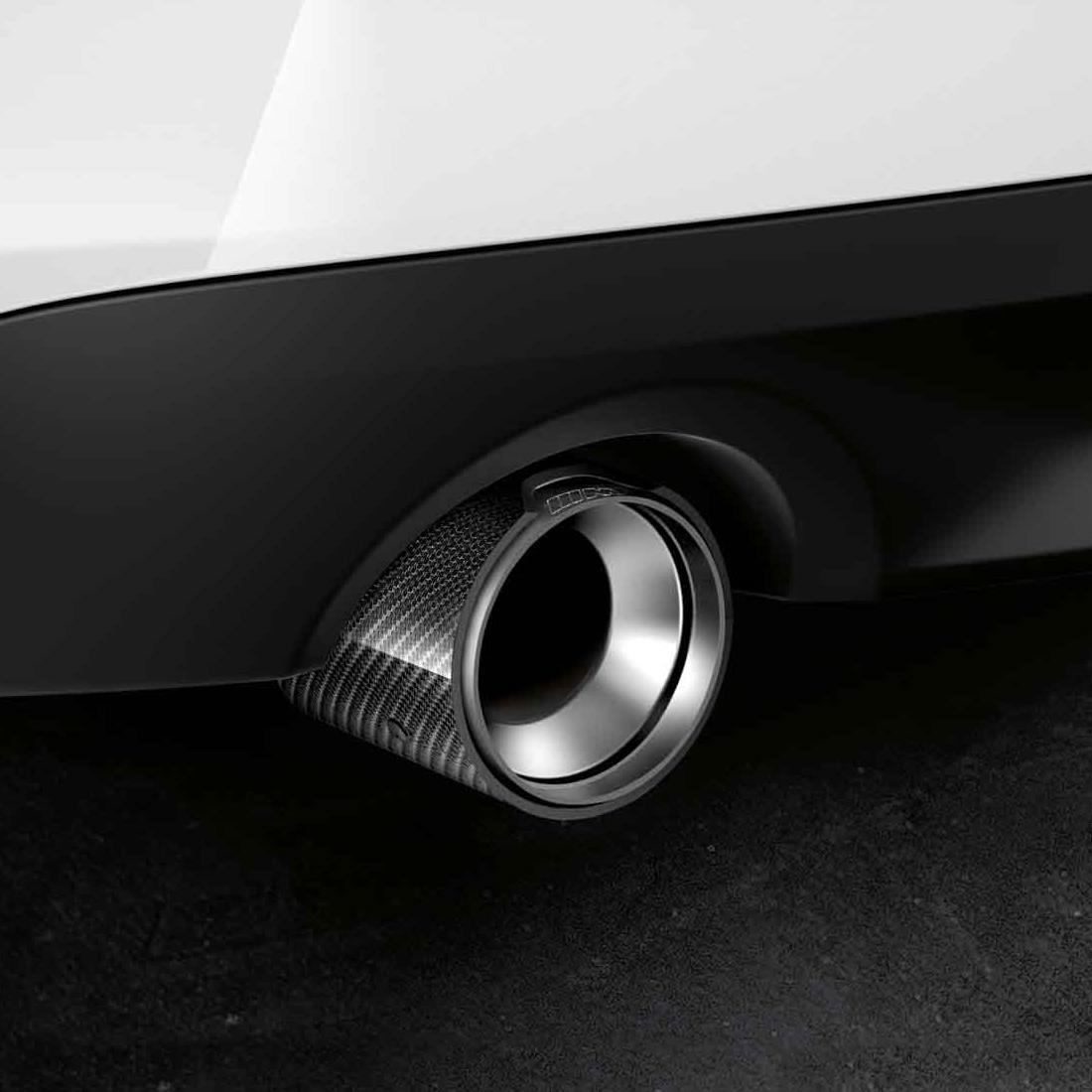 Shopbmwusa Com Bmw M Performance Carbon Fiber Tailpipe Trim