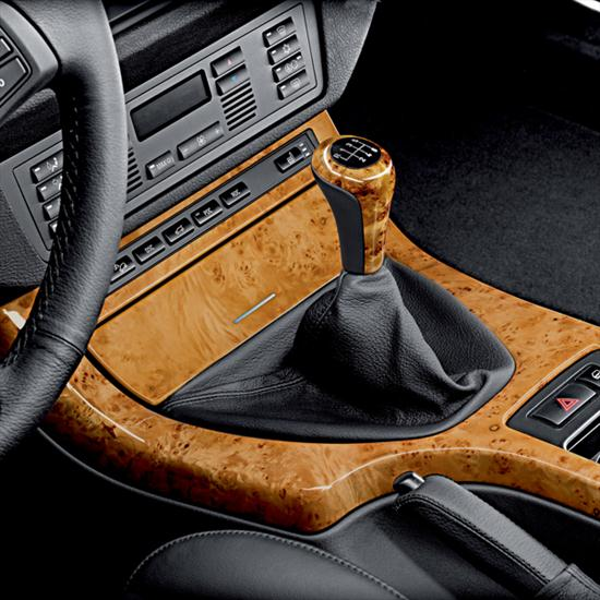 BMW Leather/ Light Wood Gear Shift Knob